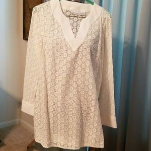Lacey cream tunic